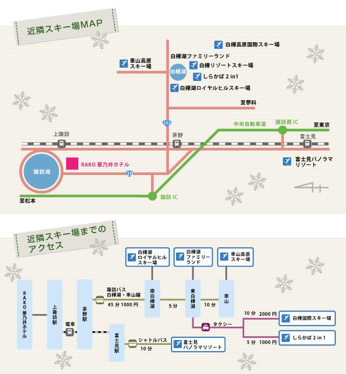 近隣スキー場MAP