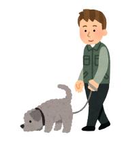 お犬の散歩
